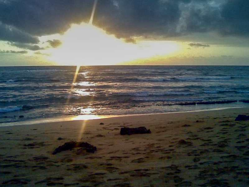One of our first sunrises on Kauai from 2011.