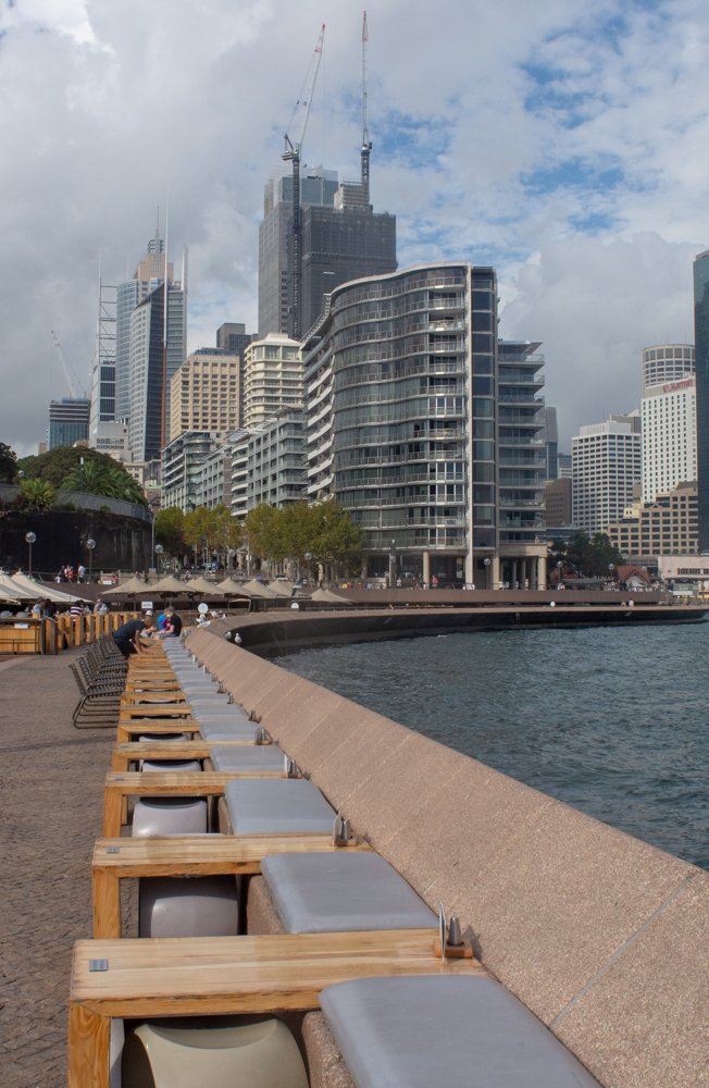 Outside seating at Sydney Opera House walkway