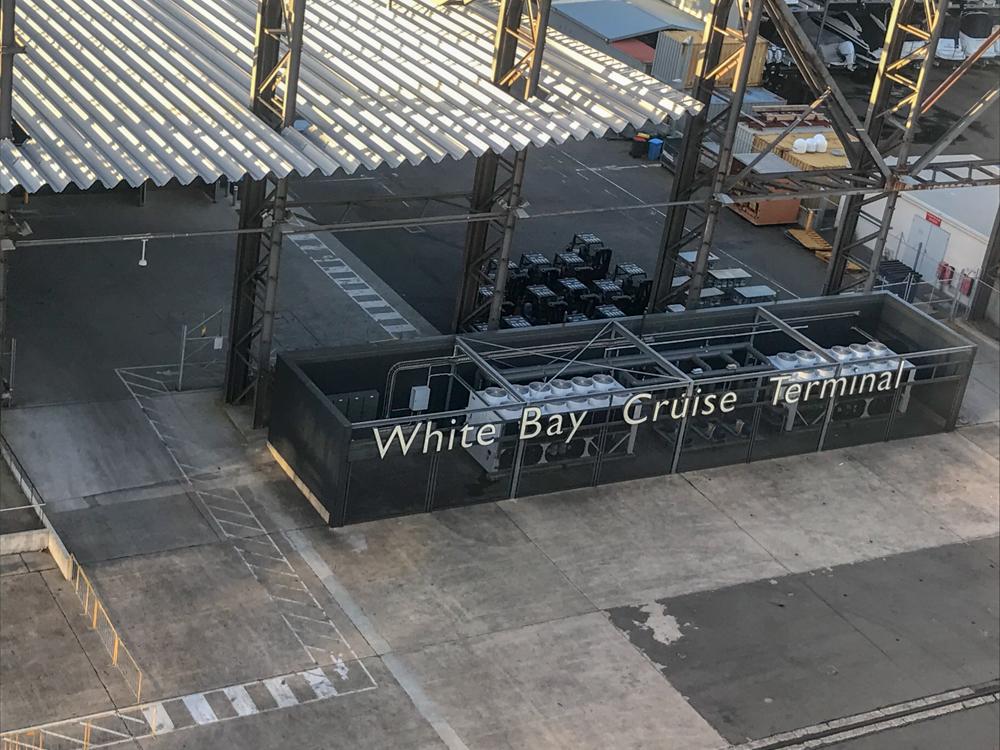 White Bay Cruise Terminal signage