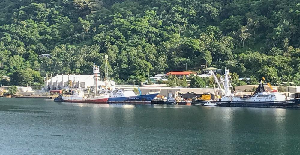 Along the shore of Pago Pago