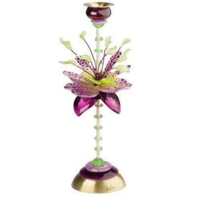 Flora Fauna Tall Candlestick