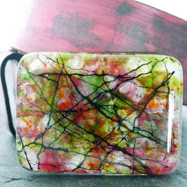 Spring Glass Belt Buckle
