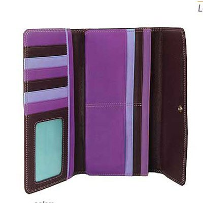 Purple Trifold Wallet