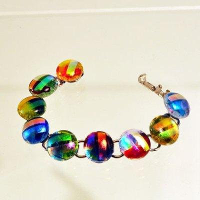 Rock Drops Dichroic Glass Bracelet