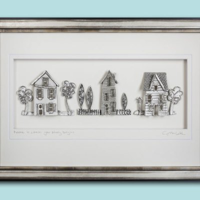 Cottage Row - Pewter Wall Art