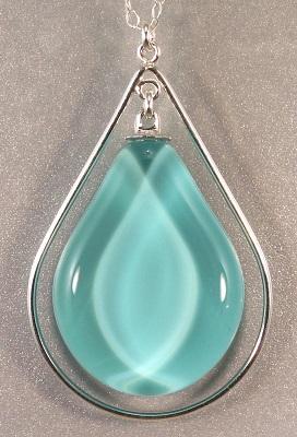 Teardrop Sola Necklace - Caribbean Blue