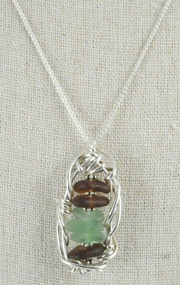 Seaglass Framework Necklace by Carolyn Roche