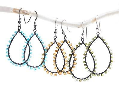 Jana Wrapped Hoop Earrings