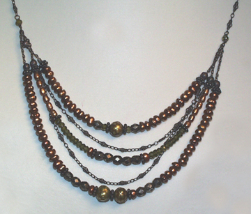Pearl Olive Multi-Strand Necklace