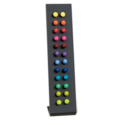 12 Pairs of Multi-Colored Stud Earrings