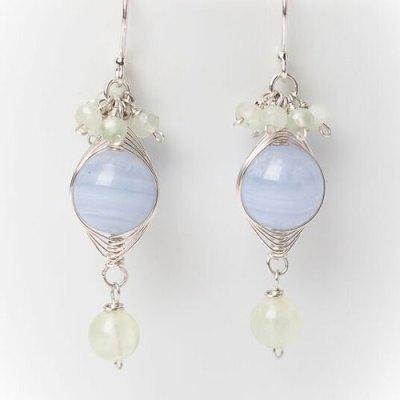 Morning Dew Blue Lace Earring