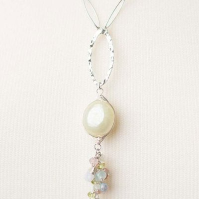 Morning Dew Herringbone Necklace