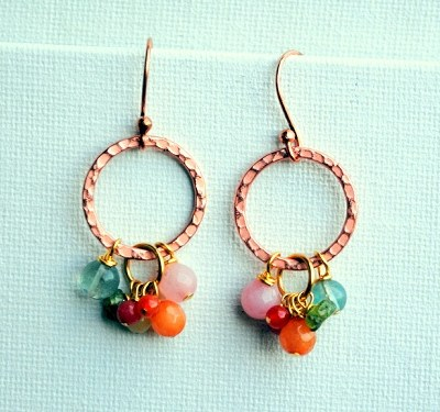 Copper and Stones Farm Earrings