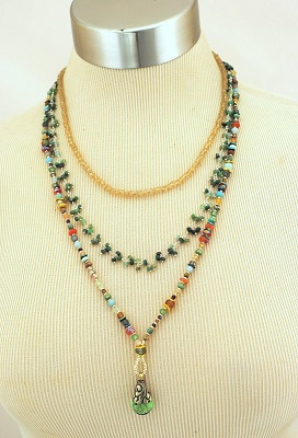 Gentle Breeze Gemstone Multi-strand Necklace