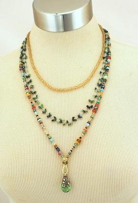 Gentle Breeze Gemstone Multi-strand Necklace