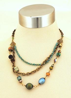 Crisp Autumn Multi-strand Necklace