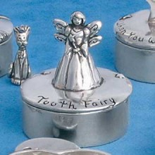 Pewter Tooth Fairy Box -Coin Inside
