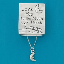 """To the Moon"" Pewter Wish Box - Moon Necklace"