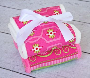 Burp Set - Pink Paisley