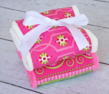 Burp Set - Pink Paisley
