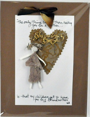 """Handmade Paper Wall Plaque - """"The only thing better than..."""""""