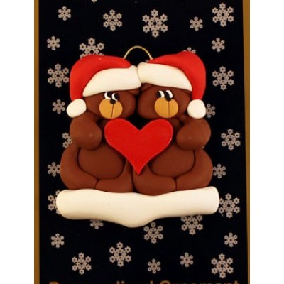 Bear Couple Ornament