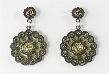 Sage-Neutral Scallop Earrings