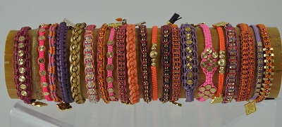 Sorbet Woven Bracelets by Rose Gonzales
