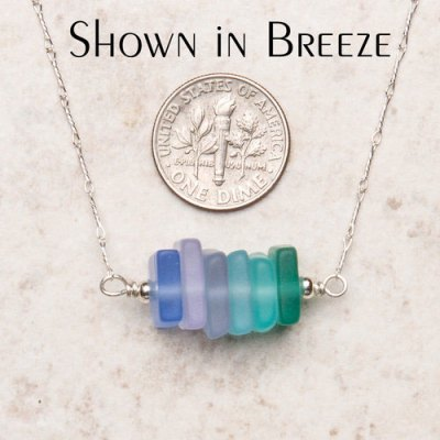 Seaglass Trapeze Necklace - Assorted Colors