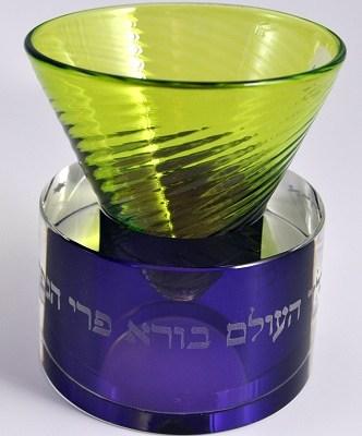 Vertex Glass Kiddush Cup