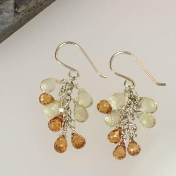 Gemstone Waterfall Earring