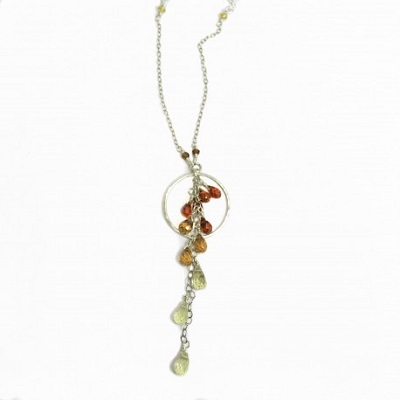 Warm Ombre Gemstone Necklace