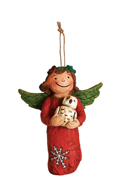 Winter Peace Angel Ornament