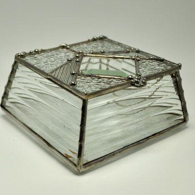"""4x4"""" Sloped Sided Stained Glass Box"""