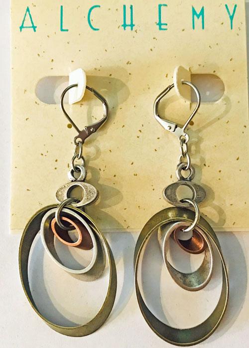 Triple Oval Earrings