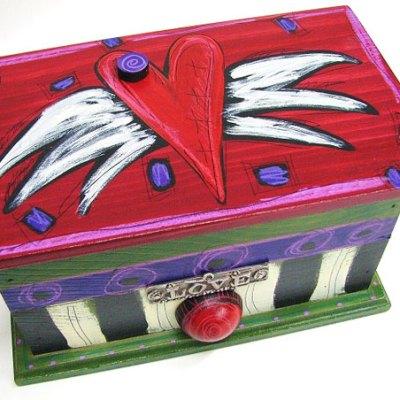 Trinket-Recipe Box - Heart
