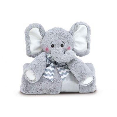 Cuddle Me Spout Gray Elephant Blanket