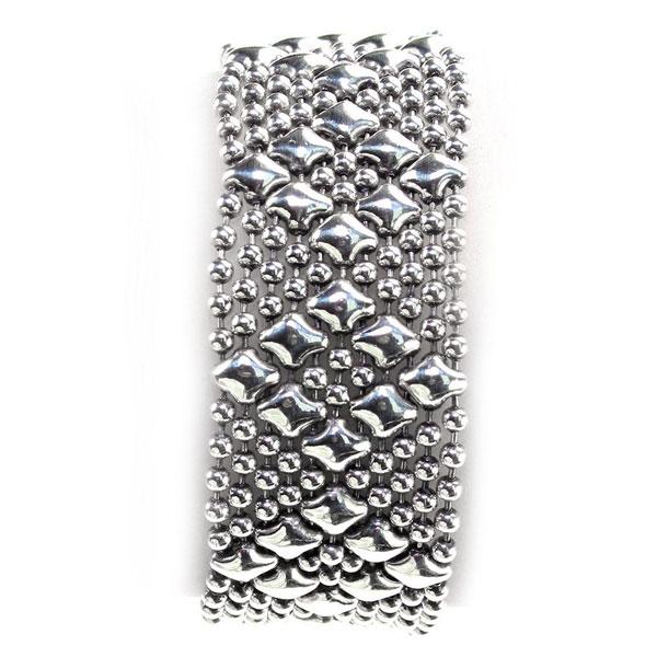 Liquid Metal Antique Silver Bracelet