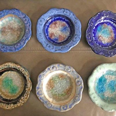 Artisan Round Pottery Dish
