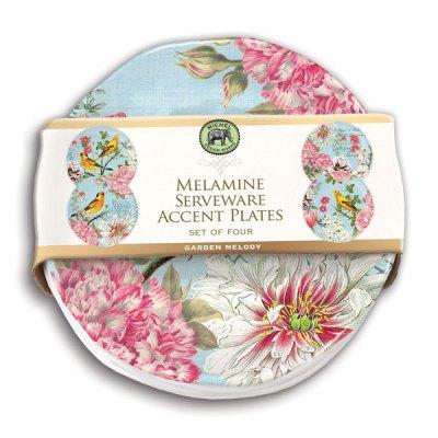 Garden Melody Melamine Accent Plates
