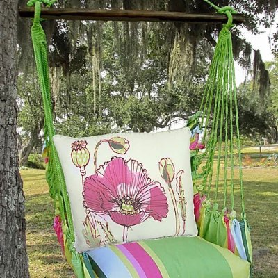 Fresh Lime Stripe Swing - Poppy