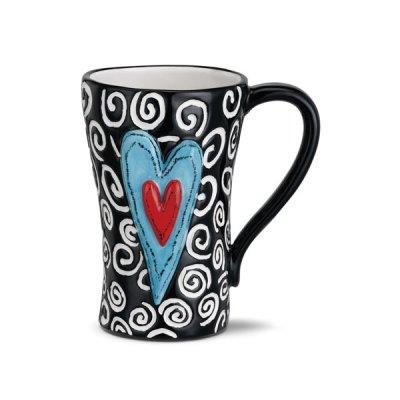 White Swirls Ceramic Mug