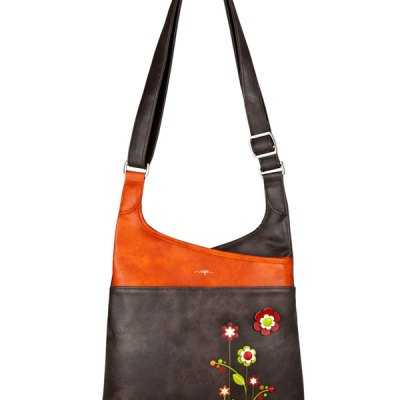 Gardenia Messenger Brown Vegan Bag