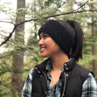 Chenille Knit Headband - Black