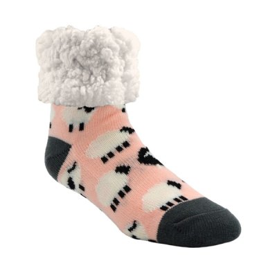 Classic Slipper Socks - Sheep Blush