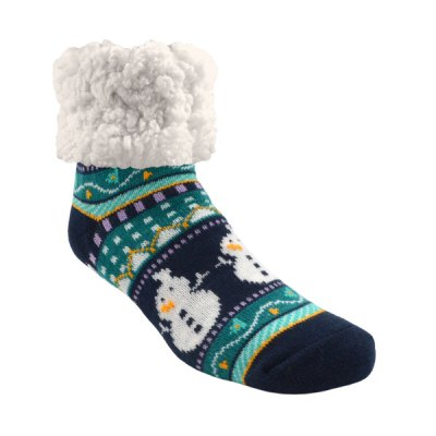 Pudus Classic Slipper Socks - Harbour Snowman
