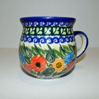 Polish Bubble Mug - Red Poppies
