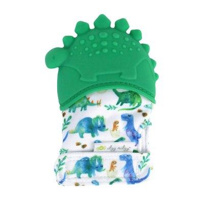 Silicone Teething Mitt - Dinosaur