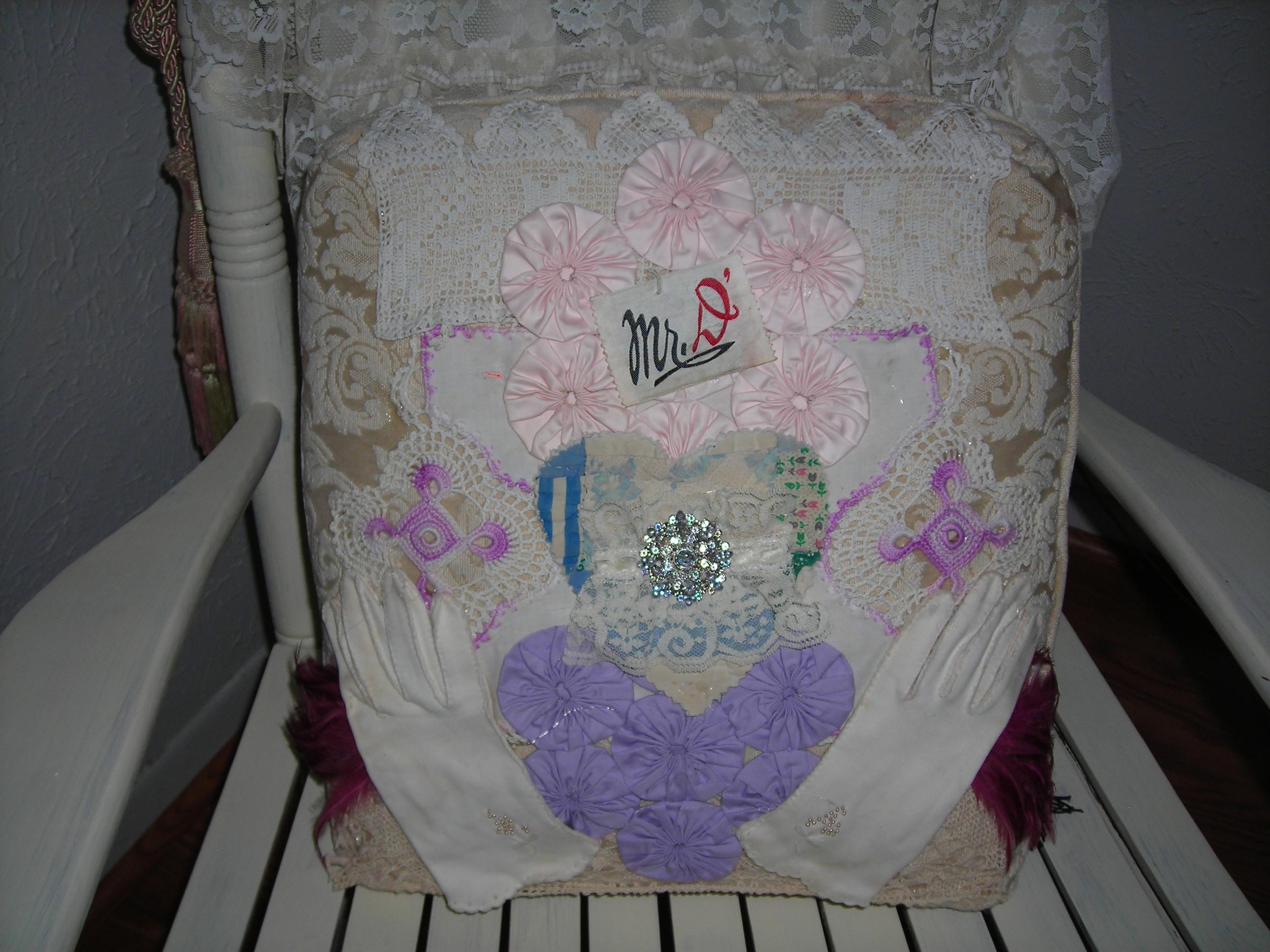 Sue's pillow art