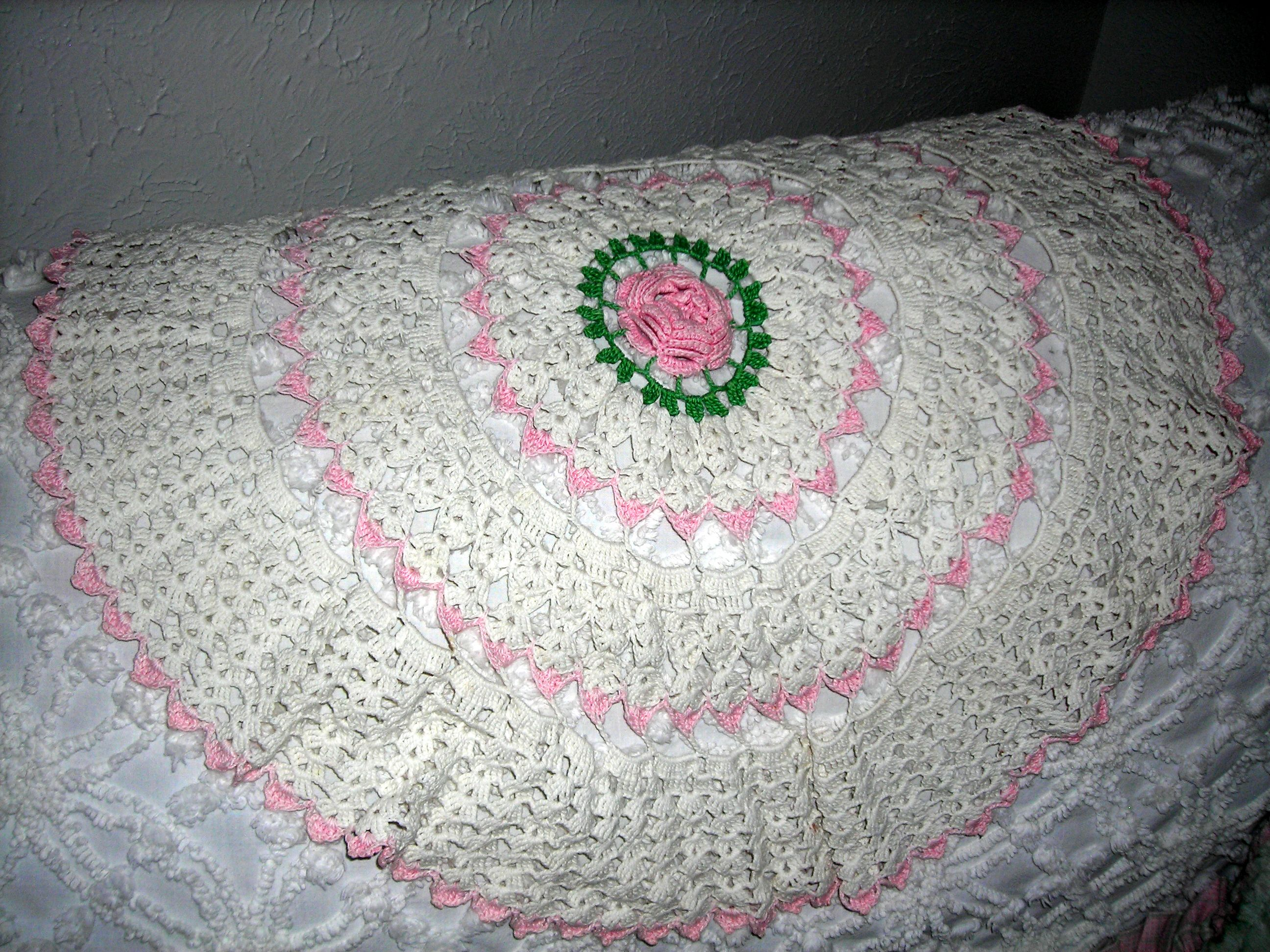 LOVELY crotcheted doily (from Sue's booth, natch)